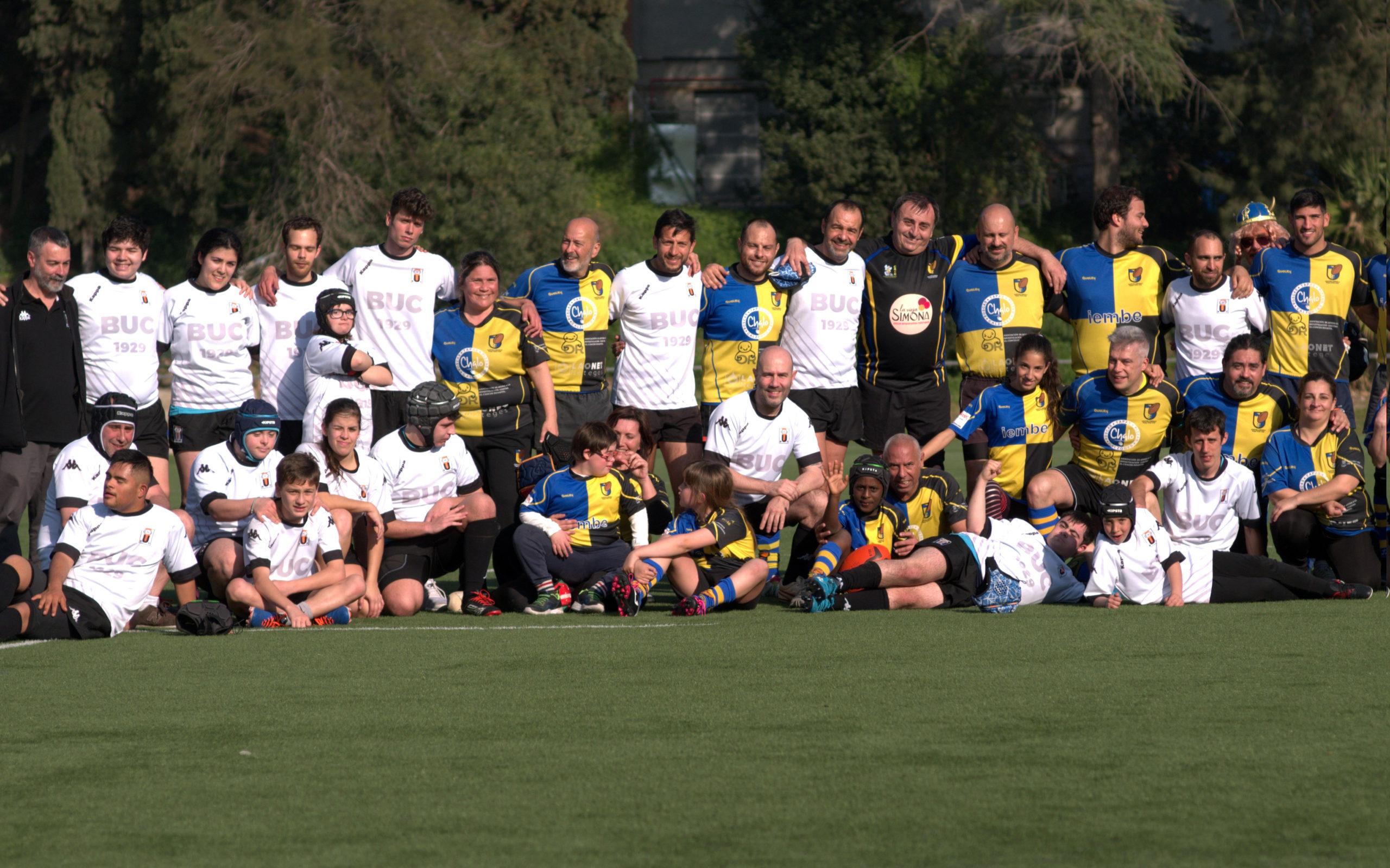 Jornada de rugby inclusivo con BUC, CRUC y Les Abelles
