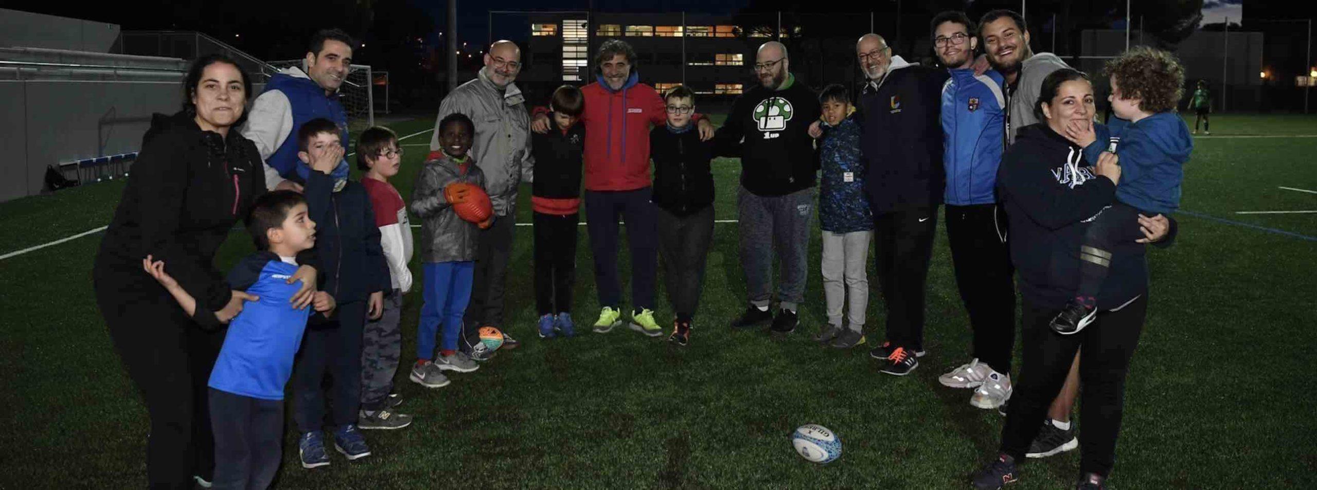 colaboradores del equipo de rugby inclusivo del CRUC