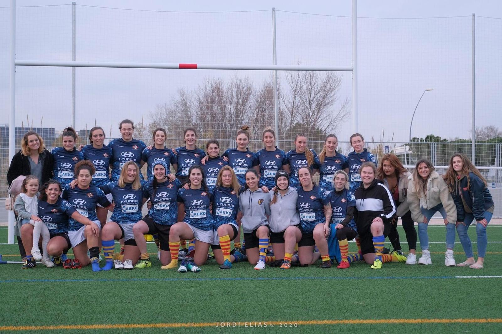 equipo senior femenino castelldefels RUC - UE santboiana
