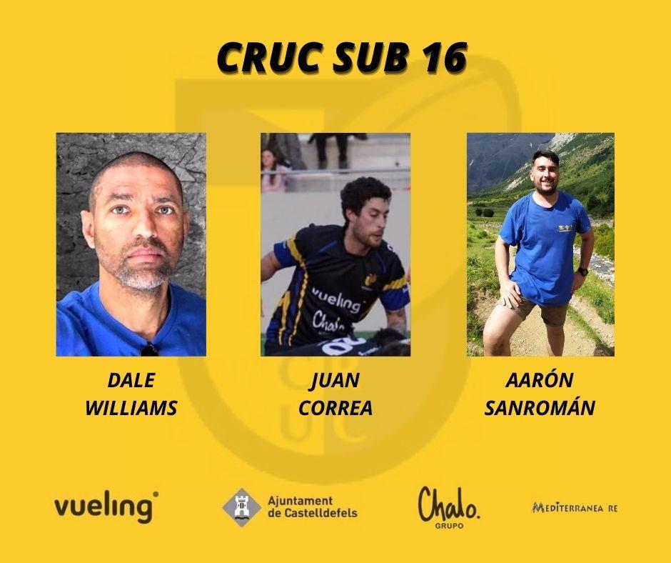 infografía de los entrenadores cruc sub 16 temporada 20/21