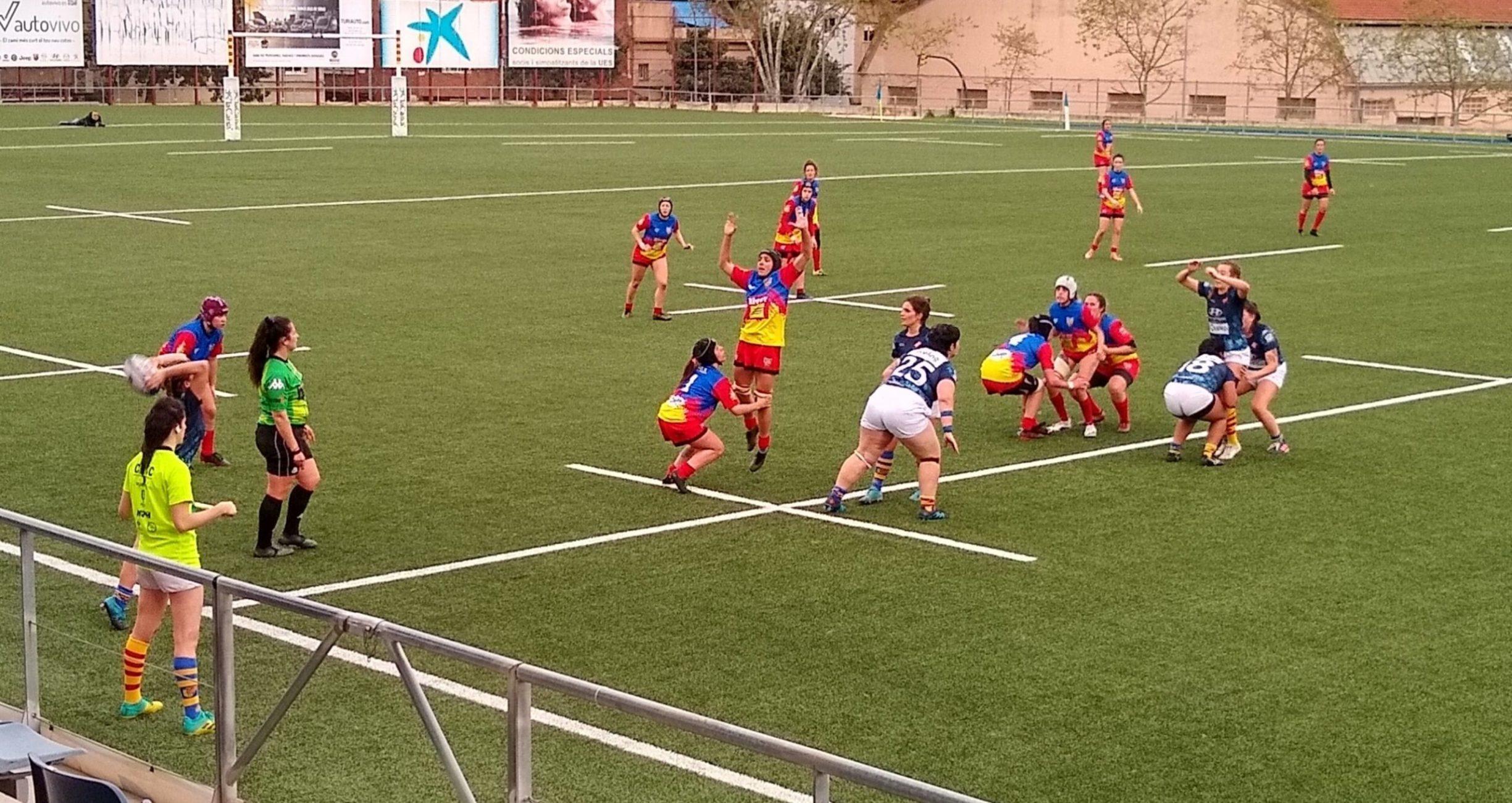partido entre el equipo femenino CRUC - UE Santboiana y el VPC Andorra en el estadi Baldiri Aleu de Sant Boi de Llobregat