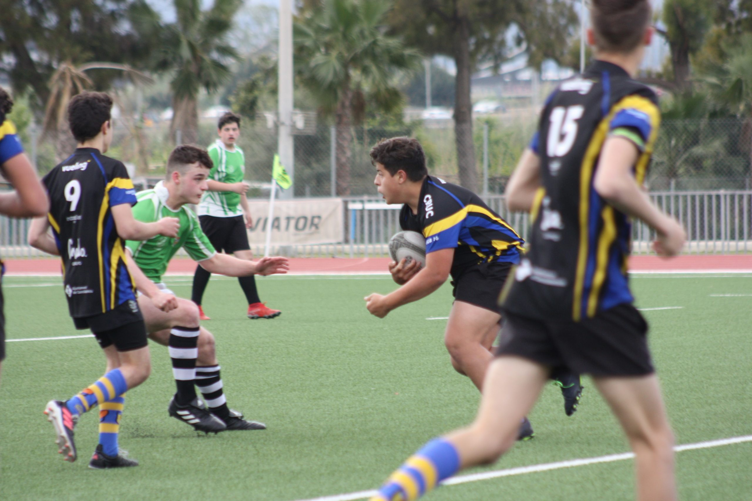 partido sub 16 entre el Cervello - Cornella y el Castelldefels Rugby Union Club