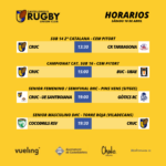 partidos de rugby del CRUC del próximo sábado 10 de abril