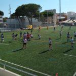 imagen del partido entre el UES CRUC femenino y el CR Sant Cugat