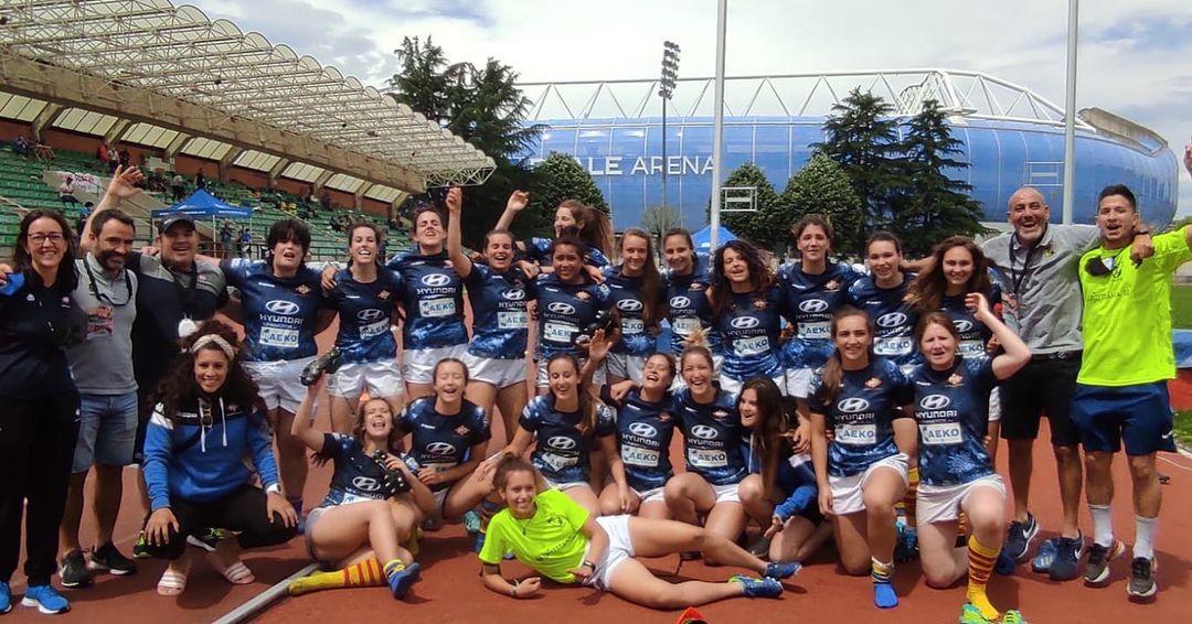 foto del equipo senior femenino en San Sebastian Donosti