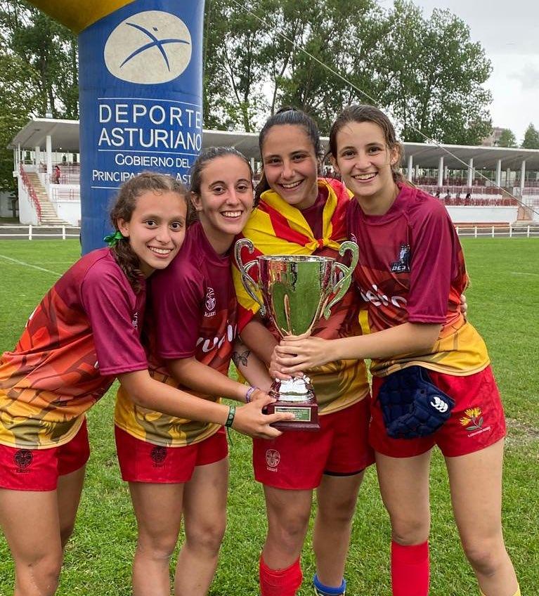 Catalunya, campeona de rugby 7 con una jugadora del CRUC y tres de la UES