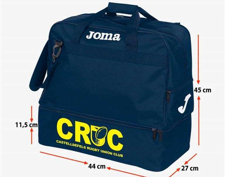 Bolsa deportiva oficial del CRUC, ideal para llevarla a los entrenamientos.