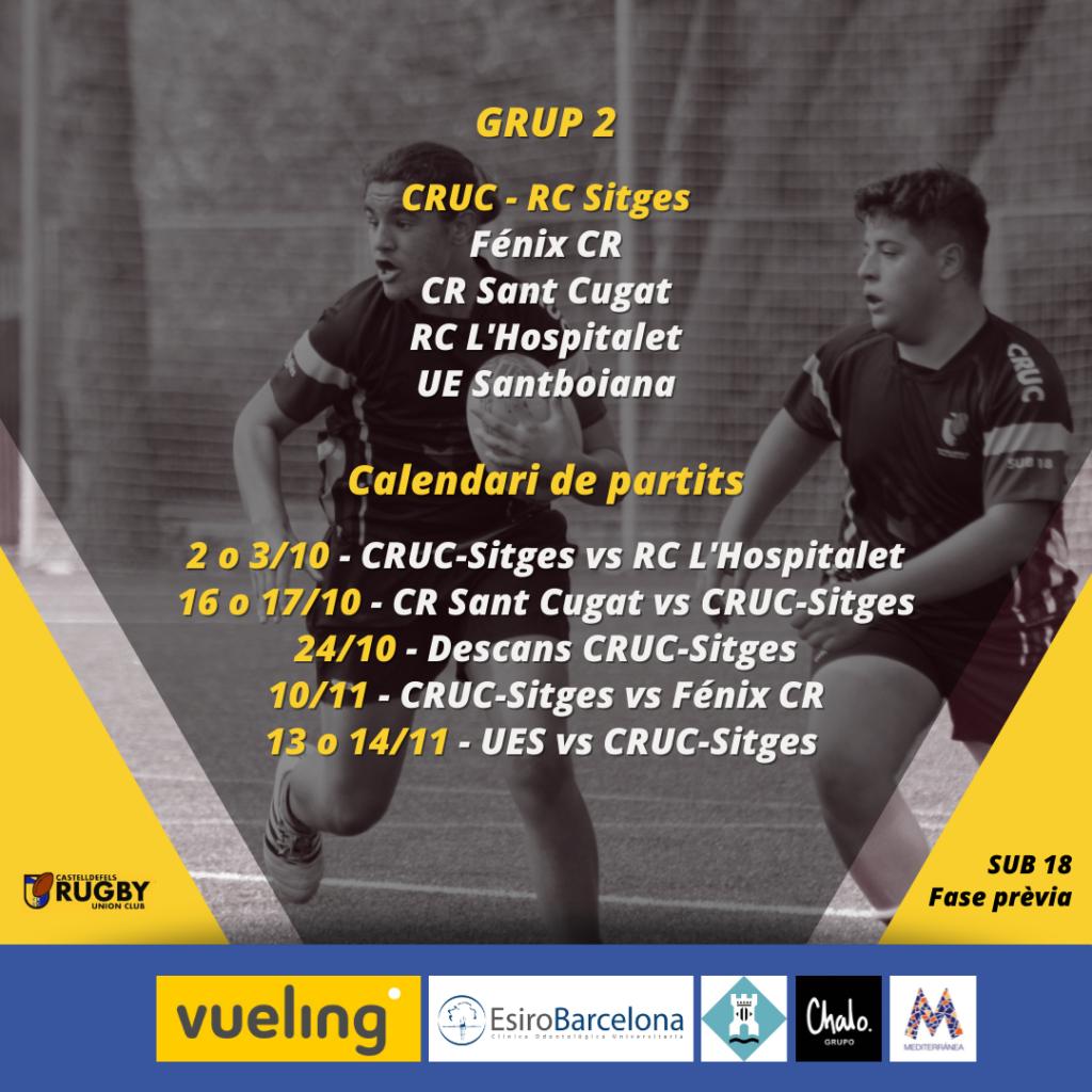 El CRUC sub 18 vuelve a la carga junto al RC Sitges. El objetivo es clasificarse para Primera Catalana.