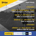 agenda de los equipos del CRUC para el 2 y 3 de octubre