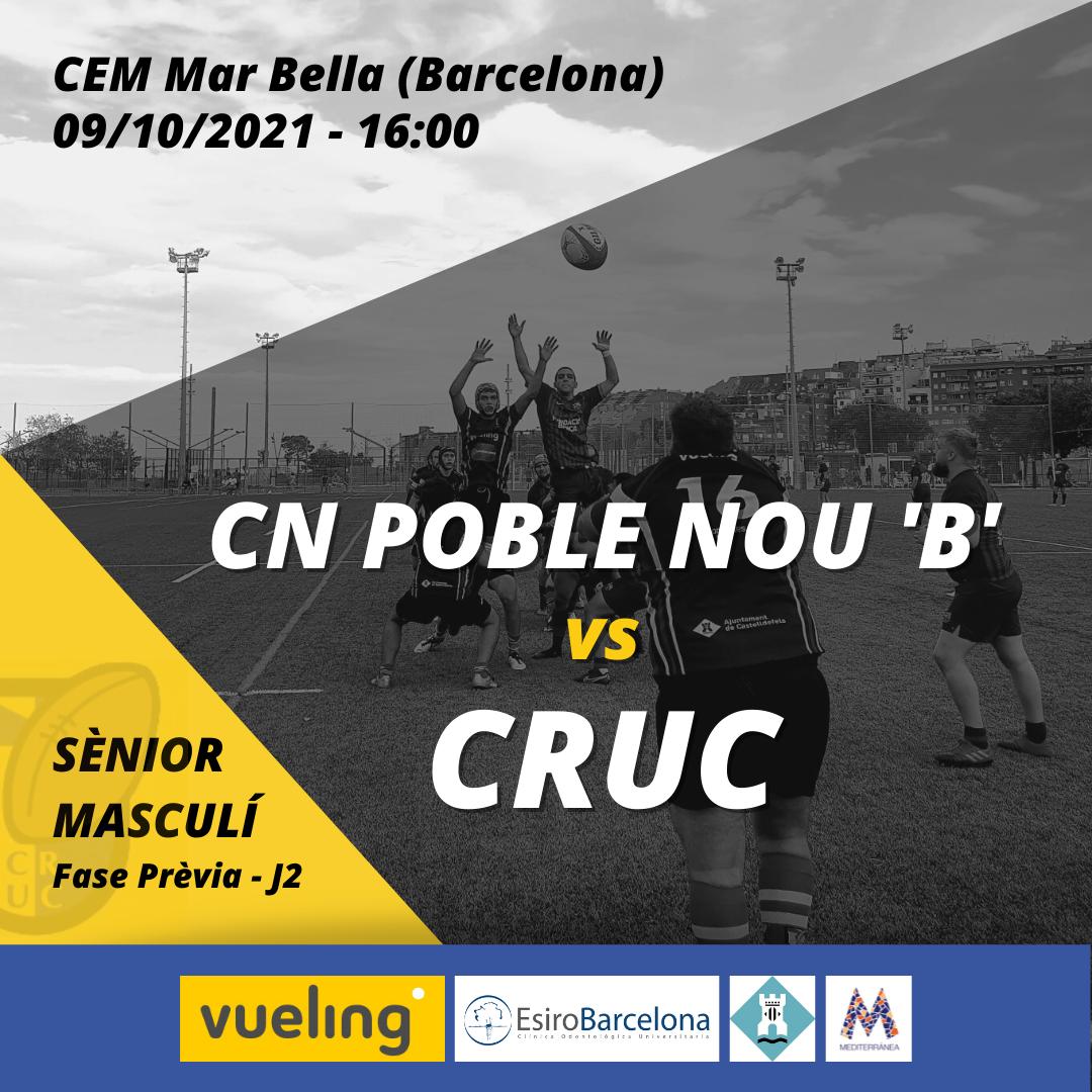 cartel del partido del castelldefels rugby en categoría senior masculina