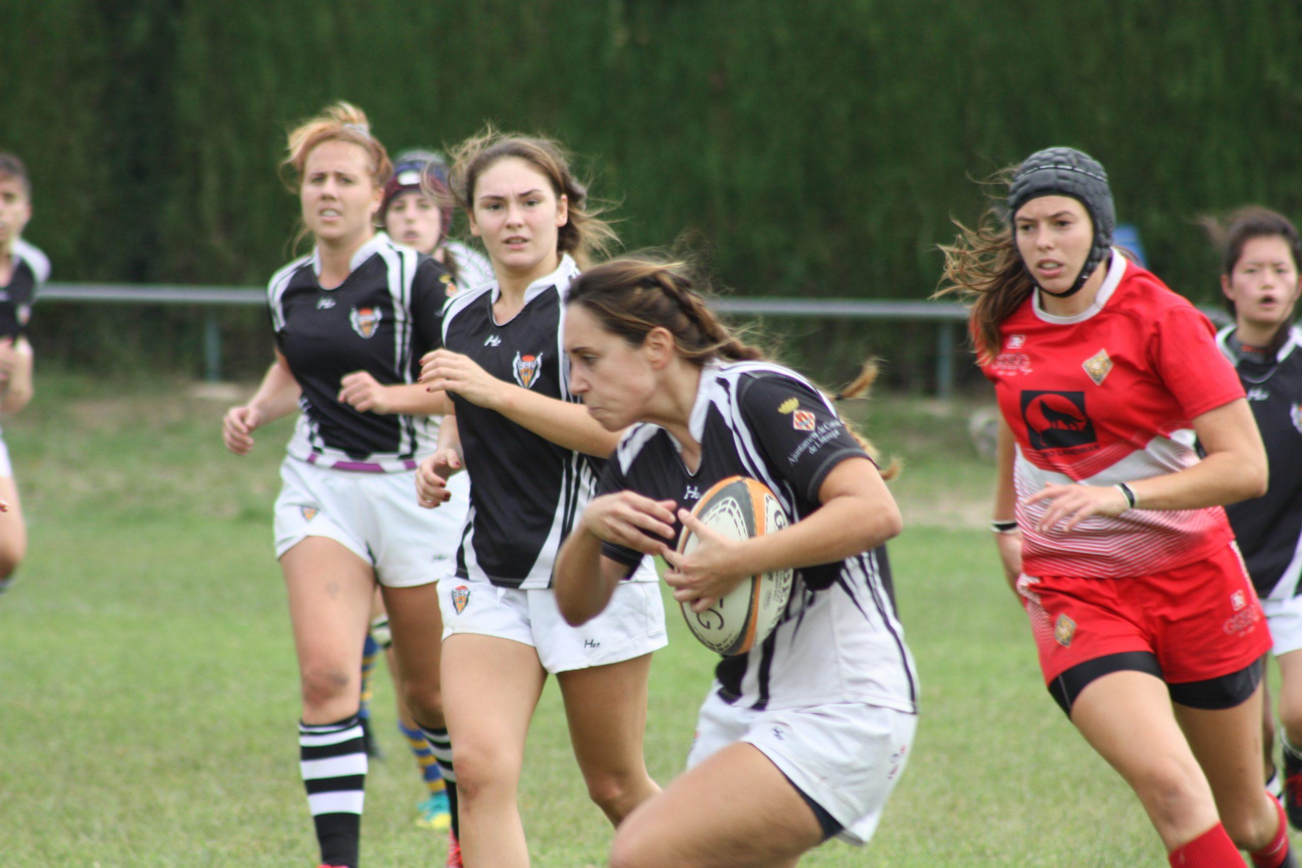partido girona vs CRUC Cornella, en el torneo previo de la DHC senior femenino