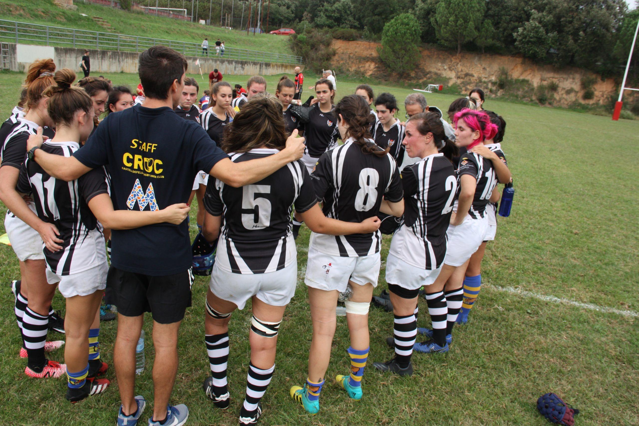 imagen del CRUC RC Cornellá senior femenino, en la temporada 2021 2022